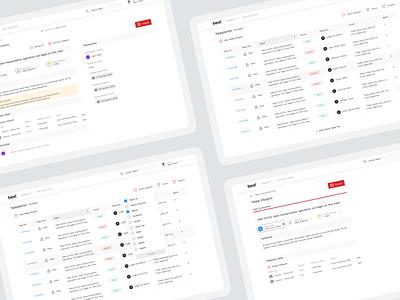 Beat Solutions - Request Management design clean web panel tables list request management dashboard admin