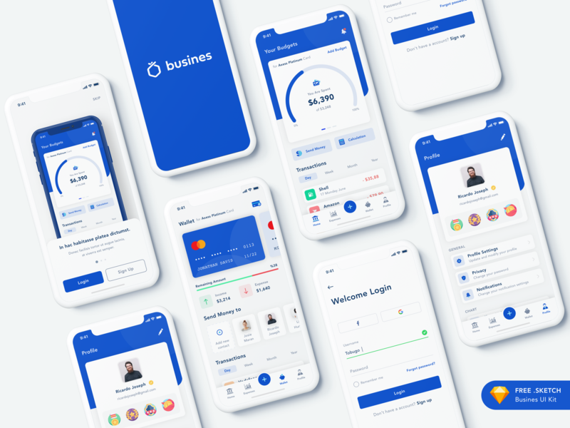Busines - Bank App ui ux chart statistics progress product profile money ios mobile icons ecommerce app design data dashboard wallet currency crypto bitcoin bank app