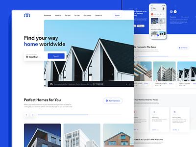 Real Estate - Website Concept minimal landingpage webdesign ui simple real estate modern house modern house home clean architecture