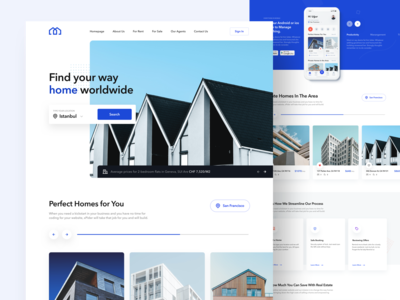Real Estate - Website Concept
