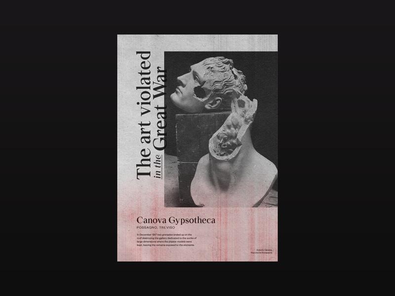 Antonio Canova — The Art Violated in the Great War sculpture visual design typographic poster typography typo type design promo poster design poster art poster photoshop photography minimalistic minimal layout graphic design graphic design