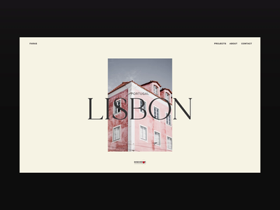 Faras — Lisbon travel photography website web video ux design ux ui design ui animation ui typography promo motion landing page interface interaction figma design animation after effects animation after effects