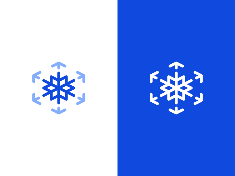 Abstract Frost Symbol + Arrows + Cube(s)