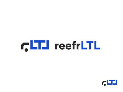 ReefrLTL Logo minimal brand identity logo shipping ltl freight truck