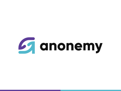 anonemy - Visual Identity Concept lowercase letter minimal wordmark hands a branding startup healthcare logo