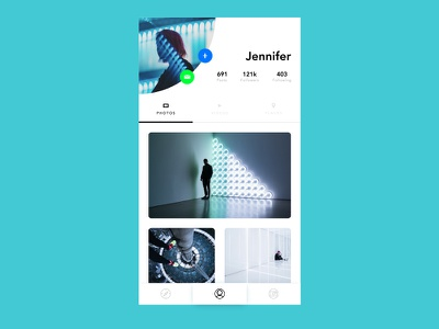 Daily UI 006 - User Profile future acrnm layout photography profile quincy user interface dailyui