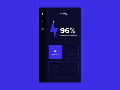 Daily UI 007 - Settings blue flat minimal dark quincy user interface daily ui