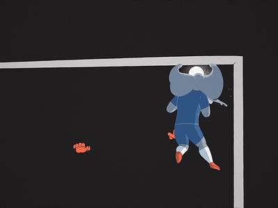 THE ELEPHANT 🐘 soccer player score goal elephant football character design cartoon motion design cel animation character illustration animation