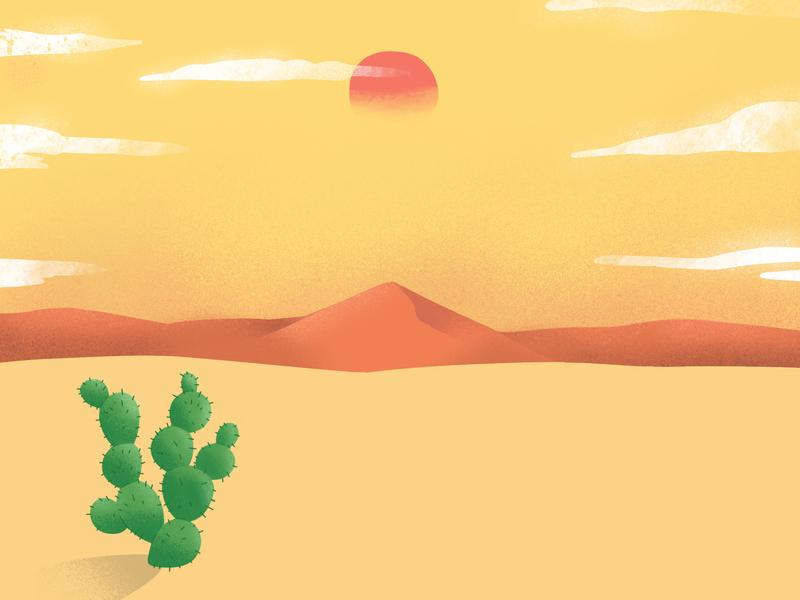 Mexican Desert By Leonardo F Dias Dribbble Dribbble