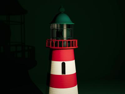 3D Lighthouse shot