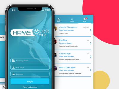 HRMS APP hr design app mobile ui