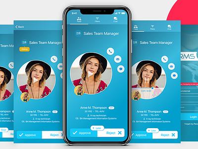 HRMS APP figma hr design app mobile ui