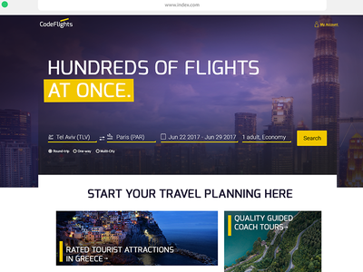 CodeFlights online airline ticket booking. search airline ui web travel flights