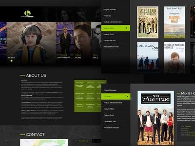 July august Mobile web design web desktop ui productions films