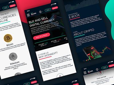 Crypto website design ui bitcoin crypto mobile