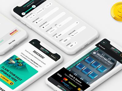Gate777 Casino mobile website design mobile photoshop graphic designer company design website web casino