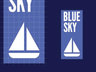 Blue Sky blue sky logo nautical