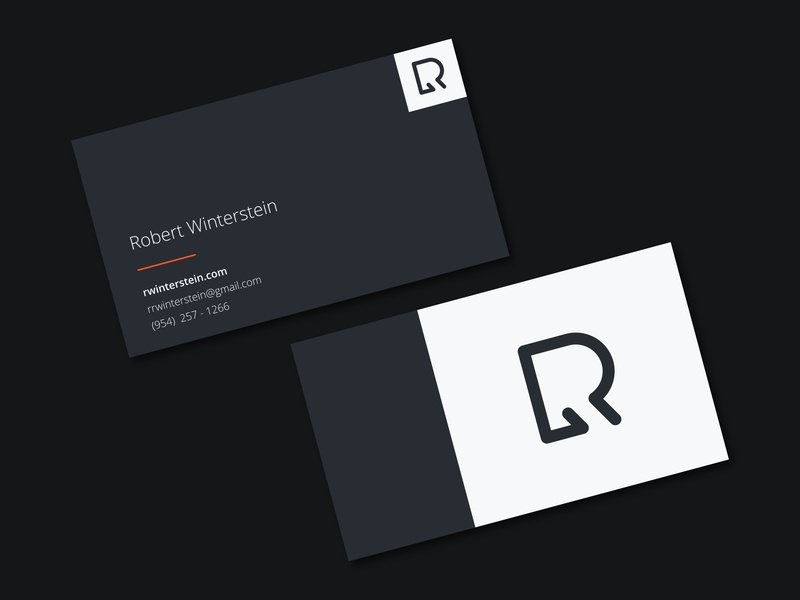 Personal Business Card business card logo personal branding