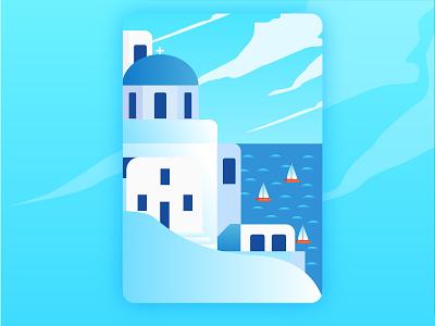 Greece greece travel design illustration