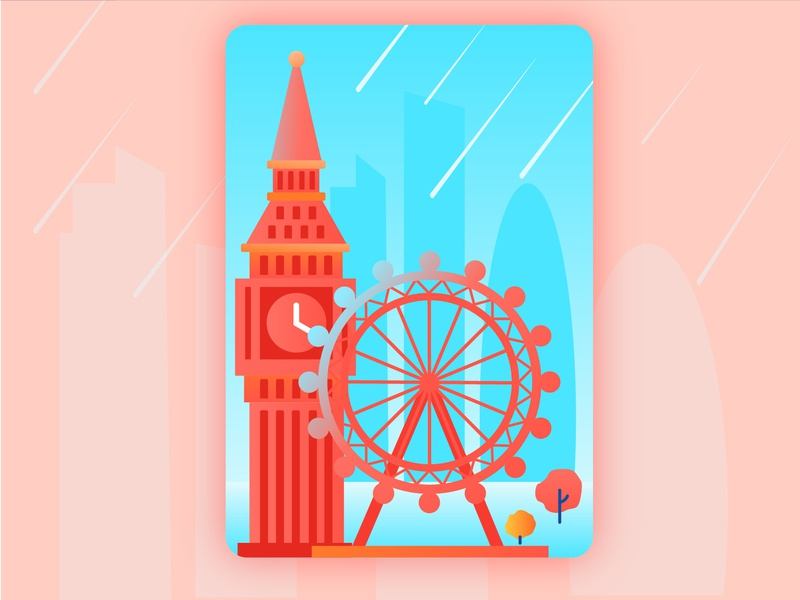 London london travel design illustration