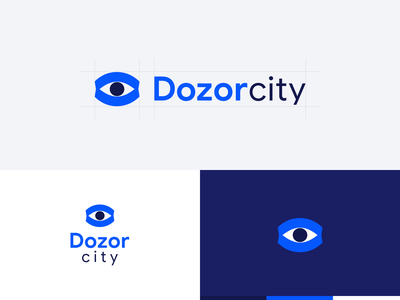 Dozor City icon branding vector logo design