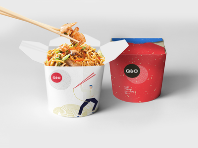 Q&O Food Box v.1 brand design pattern packaging design package design packaging logo vector branding illustration design