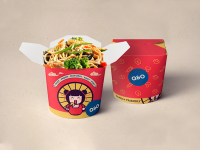 Q&O Food Box v.2 logo branding design packaging design package design packaging vector branding illustration design