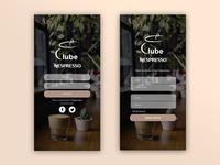 nespresso club app (registration screen)