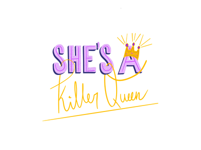 Killer Queen lettering challenge handwriting graphic design graphic fonts digital art designer design create calligraphy art lyric design inspiration apple pencil typography illustration procreate music hand lettering lettering