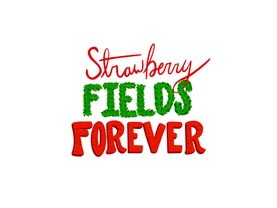 Strawberry Fields 🍓 lettering challenge calligraphy handwriting apple pencil procreate lettering design inspiration digital art hand lettering lettering procreate lyric music graphic fonts type designer art typography create graphic design