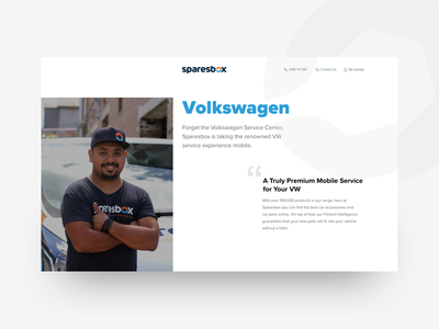 Landing Page For Car Servicing servicing car landing-page ui ux