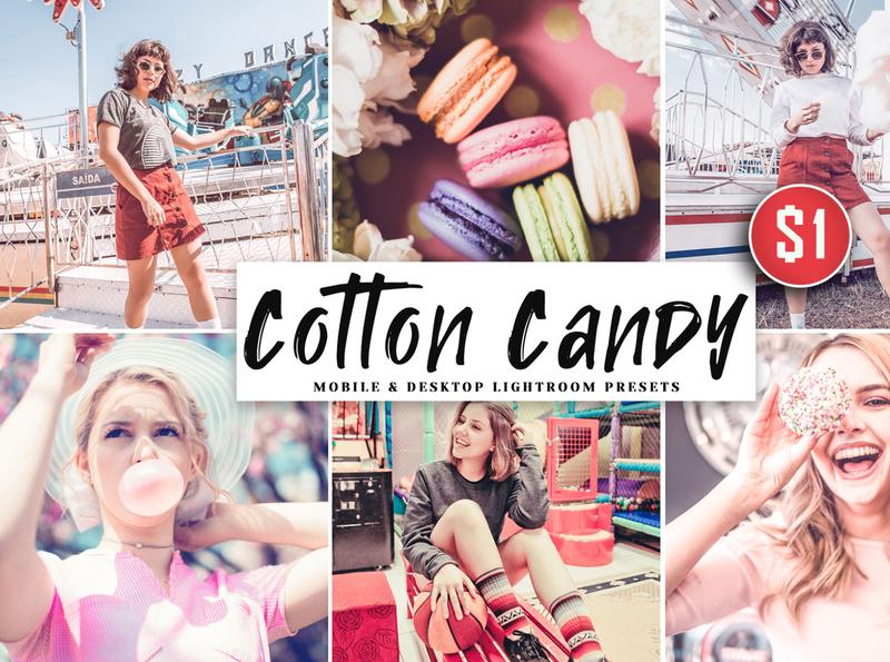 Cotton Candy Mobile & Desktop Lightroom Presets minimalistic matte magazine lightroom light instagram insta hdr fresh film exclusive colorful color cinematic bright blog beautiful artistic art