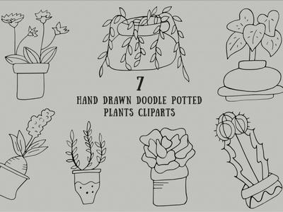 Free Handmade Doodle Potted Plants Cliparts molding making jug jar illustration handmade hand equipment doodle decoration creativity craftsman craft concept concentration clay ceramic bowl artist art