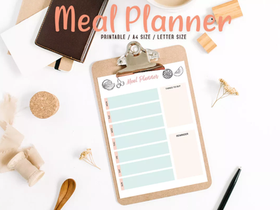 Free Colorful Meal Planner Printable printables work agenda printable planner printable planner essentials planner 2020 personal calendar monthly planner meal planner happy planner insert