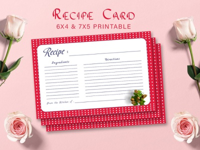 Free Recipe Card Printable Template V22 Display design creative modern printable recipe printables work agenda printable planner printable planner essentials planner 2020 personal calendar monthly planner meal planner happy planner insert editable planner editable