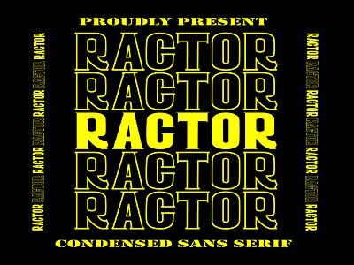 Free Ractor Sans Serif Font poster post pen otf natural modern marker logo ligature handwritten hand graffiti font exclusive design creative craft cool brush art