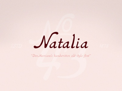 Free Natalia Handwritten Font photography modern minimalist logo ligature invitation handwritten handlettering gorgeous fresh feminine fancy elegant couple clean calligraphy business branding bestseller beauty