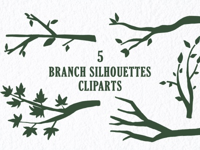 Free Branch Silhouettes Handmade Cliparts cricut twig branch transparent included
