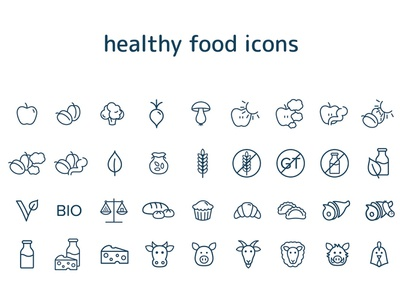 Free Healthy Food Icons fish element egg drink drawing design cup cook collection cognac coffee cherry caps cabbage bread bottle berry beer apple alcohol