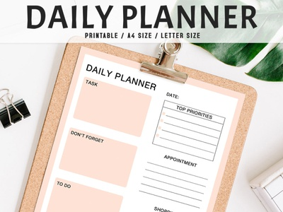 Free Colorful Daily Planner Printable V2 printable daily planner instant download daily planner instant download