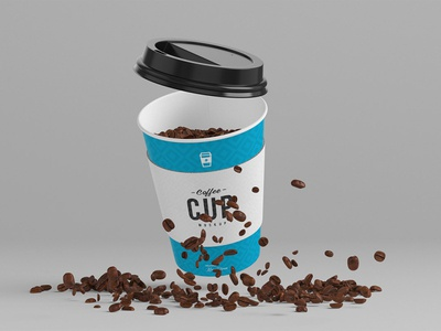 Free 8oz Coffee Cup Mockup mockups mock-up mocha milk lid latte food espresso drink disposable cup container coffee catering cardboard cappuccino cafe beverage beans bean