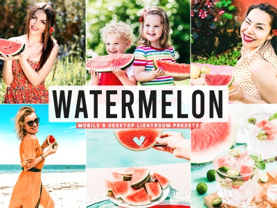 Free Watermelon Mobile & Desktop Lightroom Presets pro preset premium portrait photography photo outdoor modern lightroom light good glamour fashion edit colorful color collection bright beauty adobe