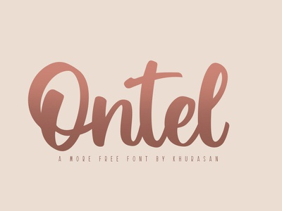Free Ontel Script Font modern design creative packaging natural magazine logo handwritting handwritten fontduo font flyer drybrush businesscard brushfont brush branding