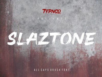 Free Slaztone Brush Font paint nature natural marker logo letter hipster headline friendly font font fashion dry display decorative cursive cool brush branding bold adventure