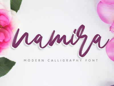 Free Namira Calligraphy Font script painted paintbrush paint marker informal hipster heavy handwritten handwriting handmade font fancy elegant cursive cool contemporary connected clean bold