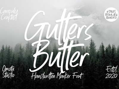Free Gutters Butter Handwritten Font vintage typography script sans retro playful notebook marker pen handdrawn hand lettering hand drawn fun fonts fancy elegant cool contemporary clean calligraphy bouncy