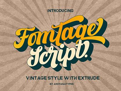 Free Fomtage Script Font 1 app logo typography vector ui branding illustration modern design creative