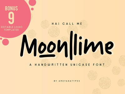 Free Moonlime Handwritten Font watercolour watercolor typeface script font script rough painted paint logo ink hand lettering hand lettered font french font fashion brutal brushed brush bold