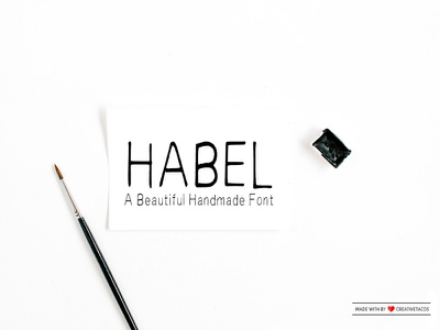 Free Habel Handwriting Font modern watercolour watercolor typeface script font script rough painted paint logo ink hand lettering hand lettered font french font fashion brutal brushed brush bold