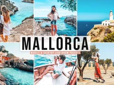 Mallorca Mobile & Desktop Lightroom Presets photographer photo outdoor orange non destructive mobile lightroom presets lightroom mobile instagram film look film effects colour colorful cinematic presets cinematic color cinematic adobe lightroom